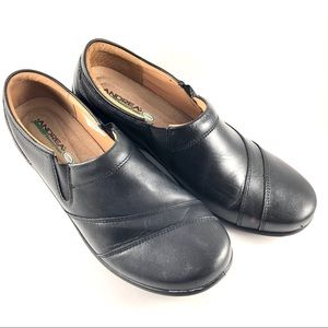 Andrea Black Leather Comfort Loafer Shoe Cushion